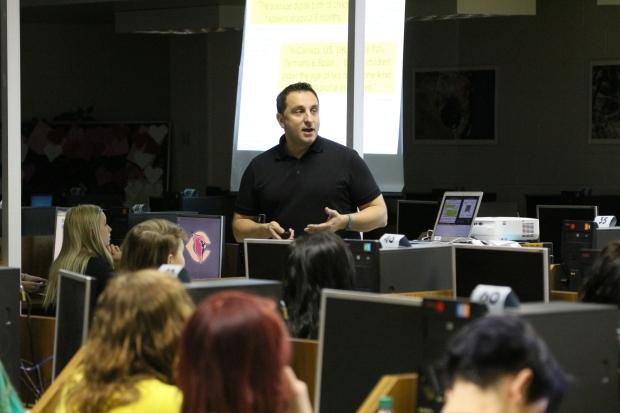 Alec presenting